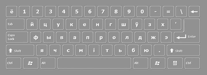 Byelorussian keyboard