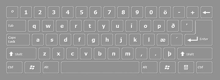 Icelandic keyboard