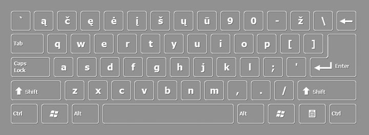 Lithuanian keyboard